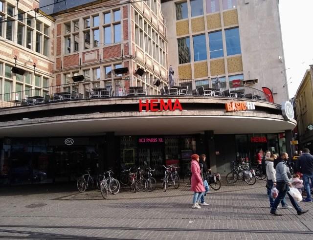Image of Hema's cafe at Korenmarkt in Gent