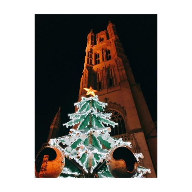 The Christmas tree bauble ride during the Christmas in Ghent
