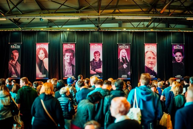Actors lineup at the Belgian comic con in Ghent