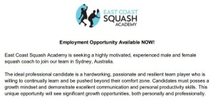 Squash Jobs
