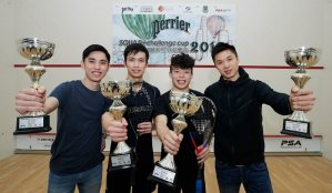 Perrier Cup : Lau lifts the Cup in Kowloon