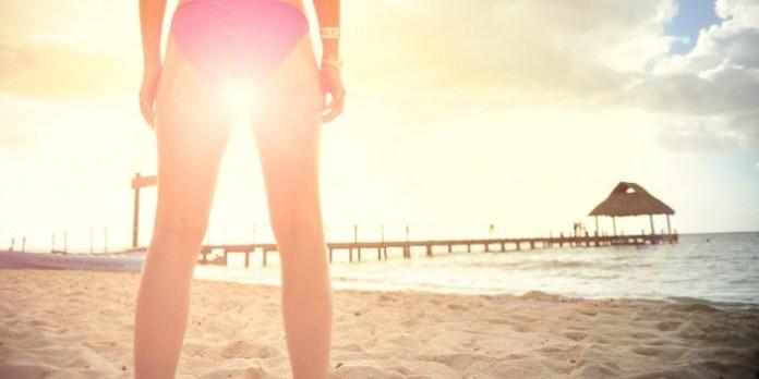 woman legs in zen