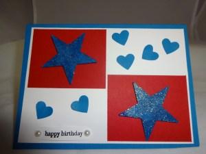 The Boys make a Birthday Card