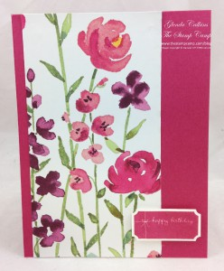 That's the Ticket Stampin' Up! Painted Blooms DSP