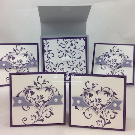 3 x 3 box with cards
