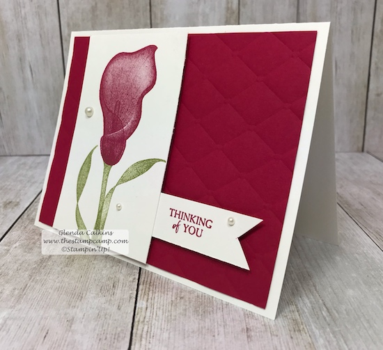 It's Sale-a-bration time with Stampin' Up! and what does that mean? Why a Free Sale-a-bration item with every $50.00 order. This is just one of the lovely stamp sets you can choose from. #stampinup #thestampcamp #saleabration #lastinglily