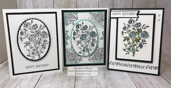 Clean and Simple stamping with a pop of color can be so pretty and doesn't take all the much effort. The classic look of Black and White is very classy and elegant. Details: www.thestampcamp.com #stampinup #veryvintage #thestampcamp #stamp #craft