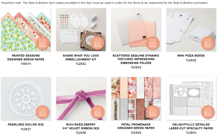 New Sale-a-bration items available beginning March 1 - 31 from Stampin' Up! details www.thestampcamp.com #stampinup #saleabration #thestampcamp