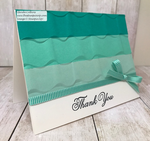 Let the magic of embossing folders do the Wow for your cards. This is the Ruffled embossing folder from Stampin' Up! Details on my blog: www.thestampcamp.com #embossing #stampinup #thestampcamp #handmadecards