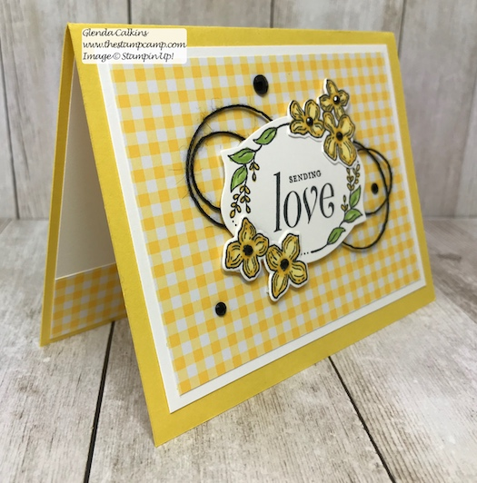 A simple card just to say Love you. This is the retiring Floral Frames Bundle from Stampin' Up! Purchase it soon before it is gone for good! Details: www.thestampcamp.com #thestampcamp, #stampinup #retiring #handmade