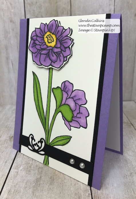 This is the Band Together Bundle which has Detailed Bands Dies with the Stamp set from Stampin' Up! Details on my blog here: https://wp.me/p59VWq-ad8 #stampinup #thestampcamp #bandtogether #dies #flowers
