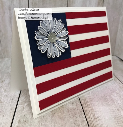 Happy 4th of July! I hope you are spending it with family and friends and have a wonderful day! Details on this card can be found here: https://wp.me/p59VWq-acJ #stampinup #thestampcamp #july4th #flag #USA
