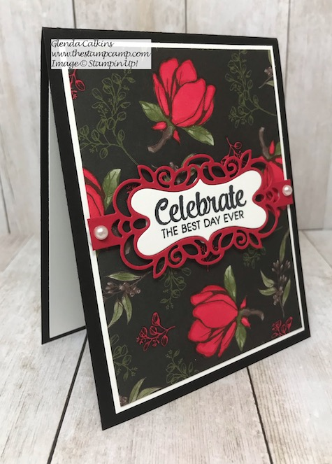 Isn't this printed paper gorgeous? It is from Stampin' Up! and believe it or not it is the Magnolia Lane Designer Series Paper. Details on my blog Here: https://wp.me/p59VWq-alF #stampinup #magnolialane #thestampcamp #printedpaper