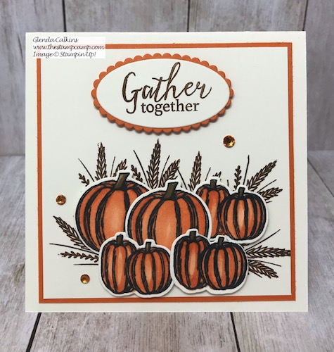 This is the Gather Together Bundle from Stampin' Up! This is a great stamp set for your fall cards or scrapbook pages. Details on my blog here: https://wp.me/p59VWq-avo #stampinup #gathertogether #fall #thestampcamp