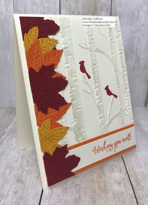 I paired the Gather Together Bundle with the October Paper Pumpkin stamp set Winter Woods. Details on my blog here: https://wp.me/p59VWq-avg #stampinup #paperpumpkin #fall #gathertogether #thestampcamp
