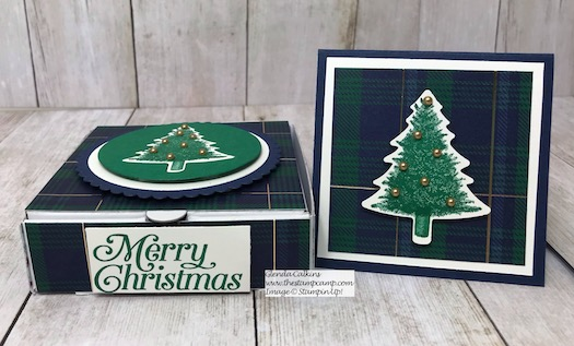 Perfectly Plaid Bundle creates the perfect Gift Box wrapped up in the Beautiful Wrapped in Plaid Designer Series Paper. Details here: https://wp.me/p59VWq-asS #stampinup #thestampcamp #wrappedinplaid #perfectlyplaid #christmas