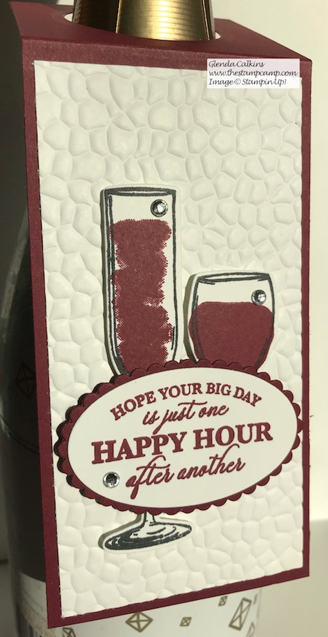 Sip Sip Hooray It's Almost Turkey Day! Just a little something to bring to my hostess; super quick and easy to create. See my blog for details: https://wp.me/p59VWq-aA5 . #stampinup #thestampcamp #winetag