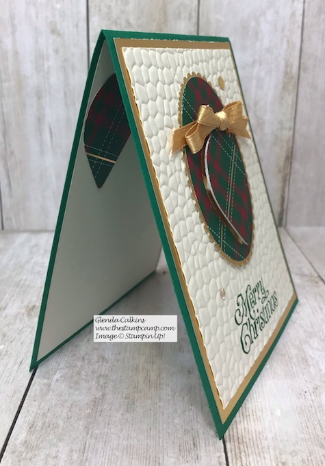 This is the Eclipse Technique using the Gleaming Ornament Punch from Stampin' Up! Details can be found on my blog here: https://wp.me/p59VWq-awy #stampinup #christmas #ornaments #thestampcamp #techniques