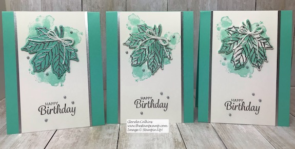 This is the Gather Together Stamp Set paired with the Geared Up Garage stamp set. Details can be found on my blog here: https://wp.me/p59VWq-ax0 #stampinup #thestampcamp #fall #leaves