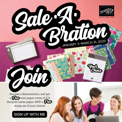 join my Stampin' Up! team during Sale-a-bration and get even more great products in your Starter Kit! Details on my blog here: https://wp.me/p59VWq-aF6