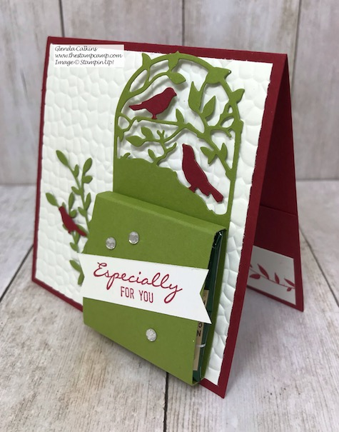 Day 12 in my 12 Days of Christmas Gift Giving Ideas. See my blog for all the details: https://wp.me/p59VWq-aCy #stampinup #thestampcamp #treatholder #giftcardholder