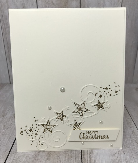 A Very Merry Christmas to You! This was done by Sara; beautiful card. See my blog here: https://wp.me/p59VWq-aEC #stampinup #thestampcamp #christmas