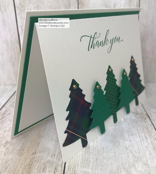 How about a simple and sweet Thank You card for this Christmas season. Details on my blog here: https://wp.me/p59VWq-aDA #stampinup #Christmas #thankyou #perfectlyplaid
