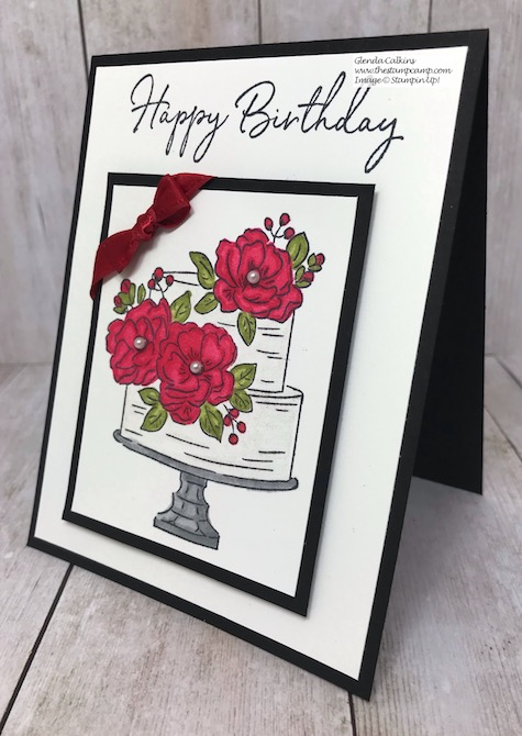 This is the FREE Sale-a-bration stamp set from Stampin' Up! It is called Happy Birthday to You and is free with a min. $50.00 order. Details are on my blog here: https://wp.me/p59VWq-aGL #stampinup #saleabration #thestampcamp #birthday