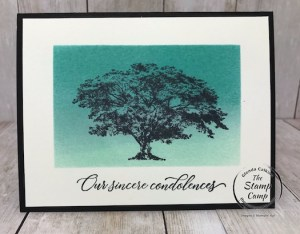 Brayering Backgrounds for Sympathy Cards
