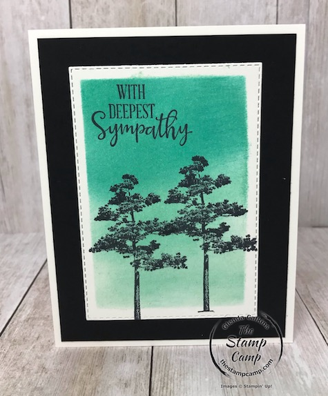 Rooted in Nature is perfect for Masculine Sympathy cards and the brayering background technique makes them quick and easy. Details on my blog here: https://wp.me/p59VWq-aJ4 #stampinup #thestampcamp #sympathy #nature
