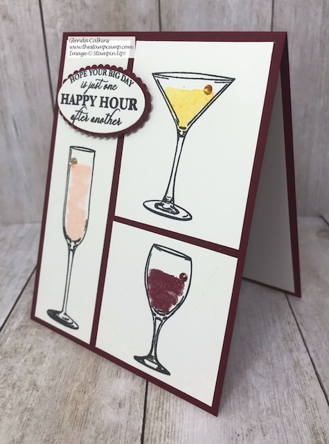 Cheers to the Bride and Groom! The Sip Sip Hooray stamp set is perfect for so many different occasions. Details on my blog here: https://wp.me/p59VWq-aFK #stampinup #brideandgroom #thestampcamp