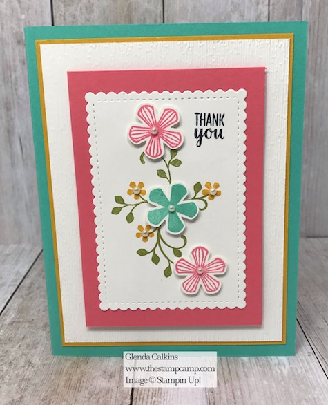 Free Sale-a-bration stamp set Thoughtful Blooms with the Small Bloom Punch available for free with a min. $150.00 order. Details on my blog here: https://wp.me/p59VWq-aIH #stampinup #thestampcamp #saleabration