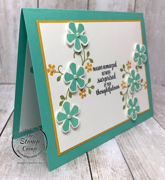 Thoughtful Blooms FREE Sale-a-bration stamp set Day 4. See my blog for details here: https://wp.me/p59VWq-aJp #stampinup #thoughtfulblooms #saleabration #thestampcamp