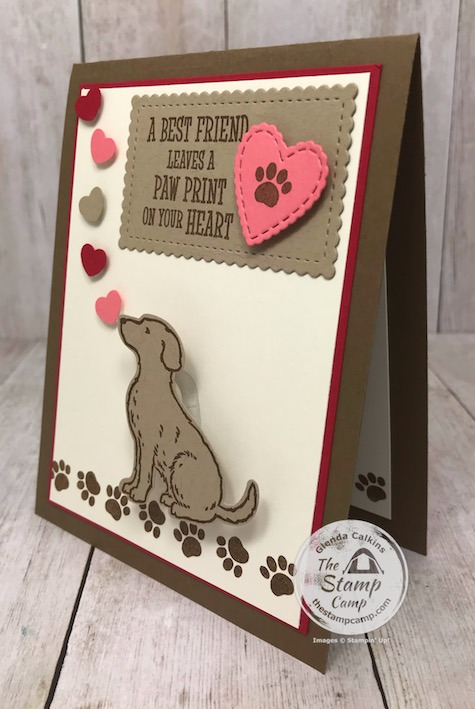 Happy Tails for Valentine's Day Card you ask? Yes, and the little dog wobbles on the front as well. I made this for my granddaughter's for Valentine's Day. Details on my blog here: https://wp.me/p59VWq-aMC #stampinup #valentine #dog #thestampcamp