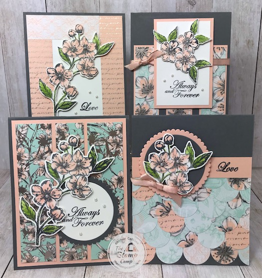 The Forever Blossoms and the Parisian Blossoms Specialty Designer Series Paper is my featured stamp set for March and is part of my Paper Scraps Class. Details on this class and the bundle can be found on my blog here: https://wp.me/p59VWq-aOX #stampinup #thestampcamp #foreverblossoms #parisianblossoms