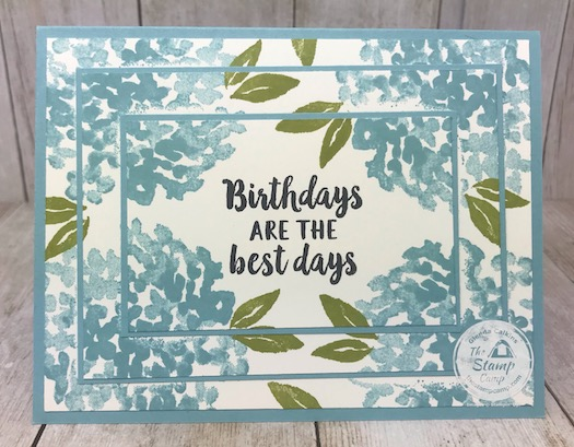 This is the Double Time and Triple Time Techniques. These techniques make super simple quick and easy cards. Details and video are on my blog here: https://wp.me/p59VWq-aV9 . #stampinup #techniques #thestampcamp #doubletime