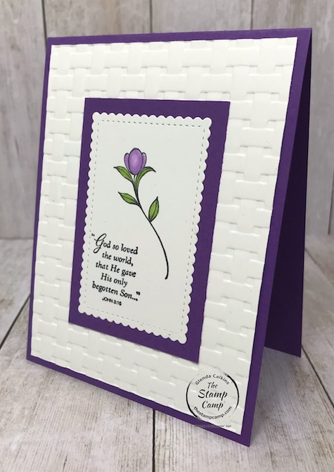 A simple stamped card using the His Grace stamp set. Details are on my blog here: https://wp.me/p59VWq-aTU . #stampinup #thestampcamp #easter #hisgrace