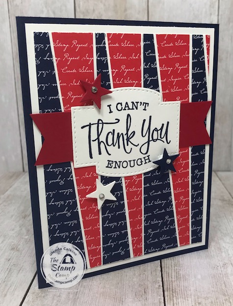 Happy Memorial Day to You And Yours; A huge Thanks to all the men and women who have or are serving our country! details on this card are on my blog here: https://wp.me/p59VWq-beS. #stampinup #memorialday #thestampcamp #glendacalkins