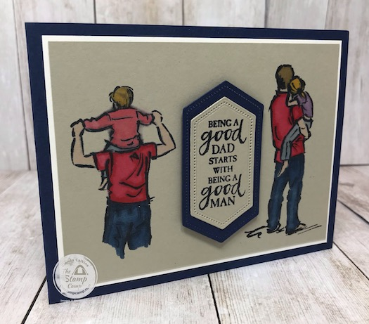 A Good Man stamp set makes perfect masculine cards for birthday's, fathers day, any occasion that is centered around family and a good man. Details are on my blog here: https://wp.me/p59VWq-bis #stampinup #goodman #thestampcamp #glendasblog