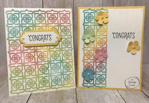 Many Mates Bundle is so versatile for so many different occasions. So much you can do with this bundle; check out my blog post here: https://wp.me/p59VWq-bjj. for some great baby card ideas. Multi-coloring with the Many Mates Bundle. #stampinup #thestampcamp #glendasblog #manymates