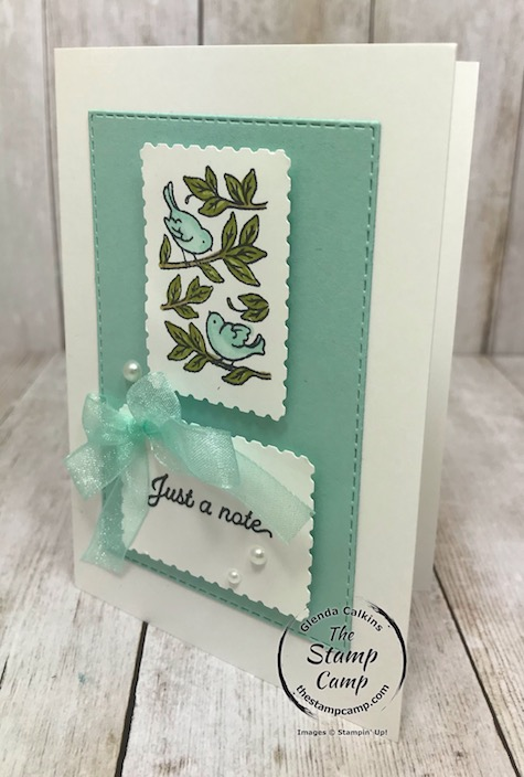 Posted for You is the perfect stamp set to use with Notecards or not. I love this bundle and how the coordinating punch makes your works of art look just like a postage stamp. Details can be found on my blog here: https://wp.me/p59VWq-bjb. #stampinup #thestampcamp #glendasblog #postagepunch #postedforyou