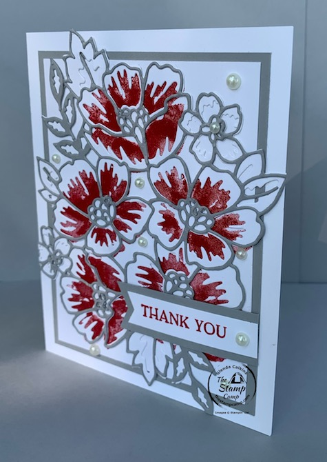 Have you tried the Blossoms in Bloom Bundle yet? If not this is a bundle that you will definitely want to have in your crafting stash. This bundle not only has awesome coordinating dies but it has some very nice sentiments in the stamp set making this a well rounded bundle to have on hand. Details for this card can be found on my blog here: https://wp.me/p59VWq-bmH #stampinup #thestampcamp #blossomsinbloom #dies