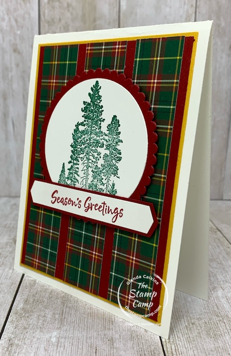 Who would have thought you could use the Campology stamp set for Christmas cards? It just goes to show you that change up the colors and paper prints and most stamp sets will work for multiple occasions. Details are on my blog here: https://wp.me/p59VWq-bql. #stampinup #thestampcamp #glendasblog #campology