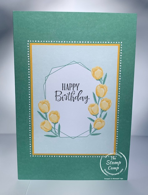 It's Simple Stamping Monday!  This card couldn't get much easier than stamping a sentiment and letting the Flowers For Every Season Memories and More Paper Pack do the work for you.  This card pack is perfect for cards, scrapbook pages, and 3D projects.  Details are on my blog here: https://wp.me/p59VWq-bpy. #stampinup #thestampcamp #scrapbooking #cards