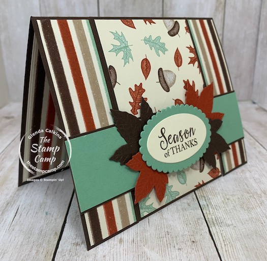 Fun Fold Friday's card is a Spanner Panel Card. I got the directions for this card from Splitcoaststampers. Everyone loves a different fun fold card and this one is way cool how it opens in 2 different sections to reveal the inside of the card. Details are on my blog here: https://wp.me/p59VWq-bwd. #stampinup #thestampcamp #funfold