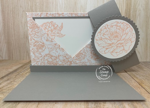 Fun Fold Friday - Today I have a double pocket Clutch to show to you. Inside you will find 2 pockets 1 for a gift card and 1 for a notecard. Super easy and has a couple different closures. #stampinup #thestampcamp #funfold