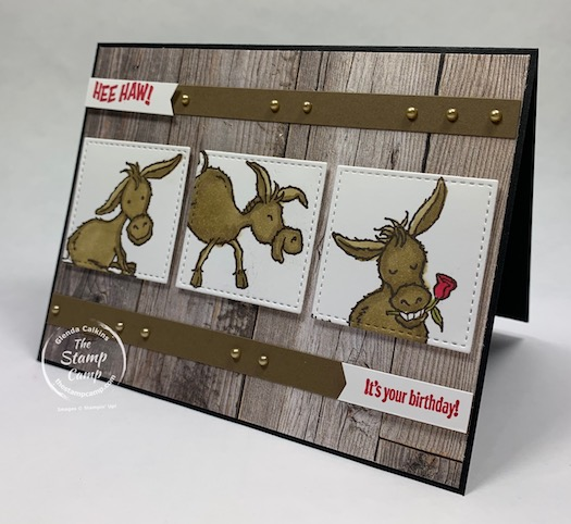 This Darling Donkey stamp set is FREE during Sale-a-bration which ends February 28, 2021. Place a min. $50.00 order (before shipping and tax) and you can choose this darling stamp set for FREE! This was created for the sketch challenge at splitcoaststampers. #thestampcamp #stampinup #saleabration #darlingdonkey