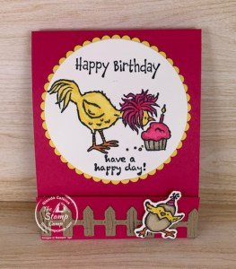 Hey Chick & Hey Birthday Chick Sticky Notepad Holder