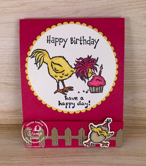 Need a little Birthday Gift that you can create in a flash? Check out this super cute Hey Chick & Hey Birthday Chick Sticky Notepad Holder. So darn cute and easy to make. #thestampcamp #stampinup #heychick