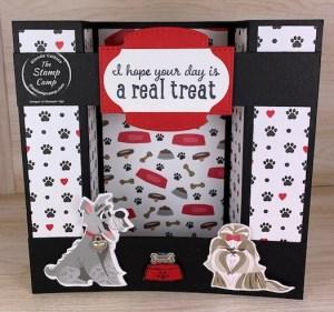 Fun Fold Friday - Double Bridge Card with Playful Pets